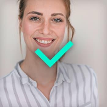 Profilfoto Tipp Lächeln Beispiel