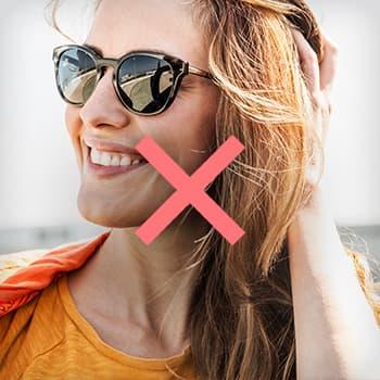 Profilfoto Tipp Sonnenbrille Beispiel