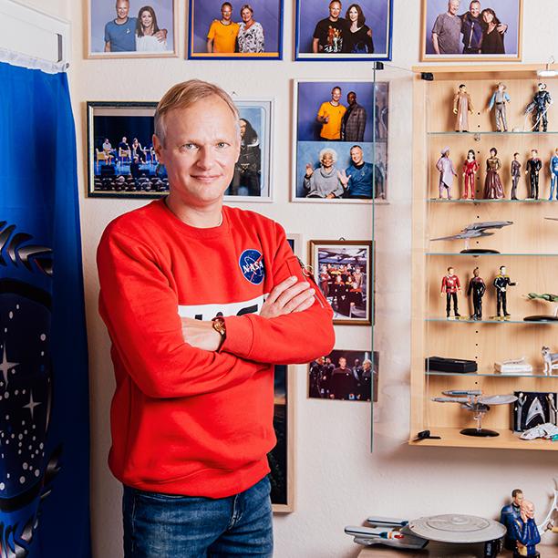 Auf seine StarTrek Sammlung ist Single Peter vom Timmendorfer Strand besonders stolz