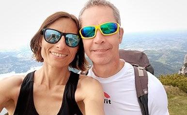 Erfolgspaar Adriana und Josef wandern gerne