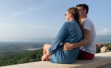 Der Auslandsaufenthalt stärkte die Beziehung von Martin und Michelle noch